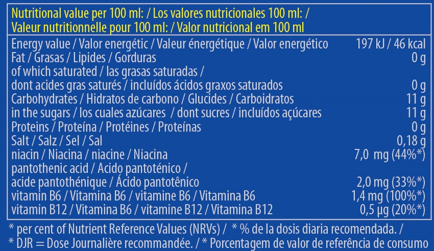 Información nutricional de Ultimate Power