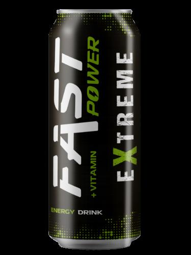 Lata BEBIDA FAST POWER eXtreme energy